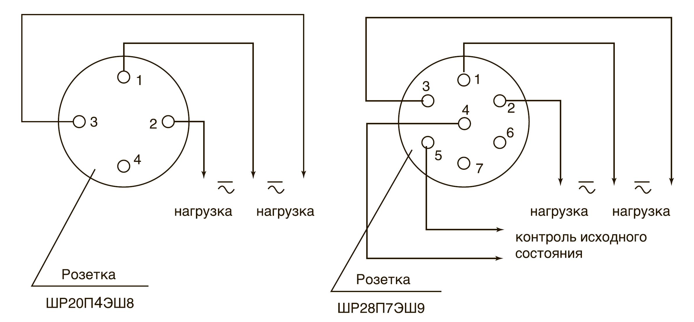 Схема электрическая внешних соединений.