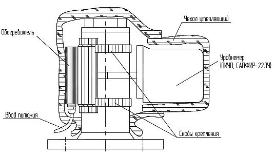 Схема монтажа обогревателя ОУР